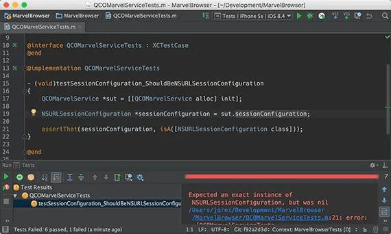 Run tests in AppCode