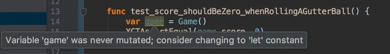 Example of AppCode inspection