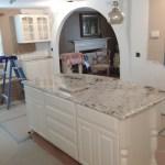 Kitchen Arch under construction