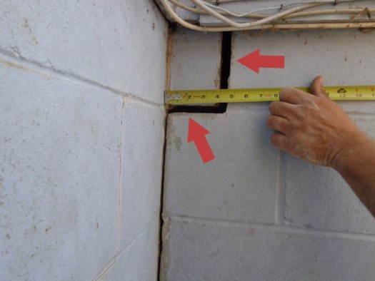 Quality Foundation repair - This crack is with the old patch removed