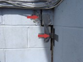 Quality Foundation Repair - The Duct tape shows how much this push pair pushed the foundation back