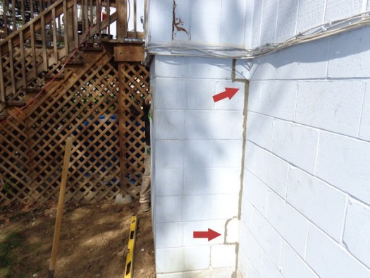 Quality Foundation Repair - After the push piers have done their work the crack is filled with mortar