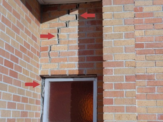 Quality Foundation Repair - This stair step pattern shows a need for commercial foundation repair