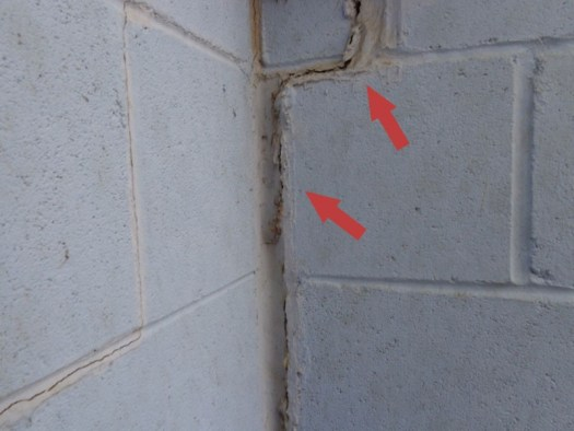 Quality Foundation Repair - This crack was patched but the underlying foundation issues were never addressed