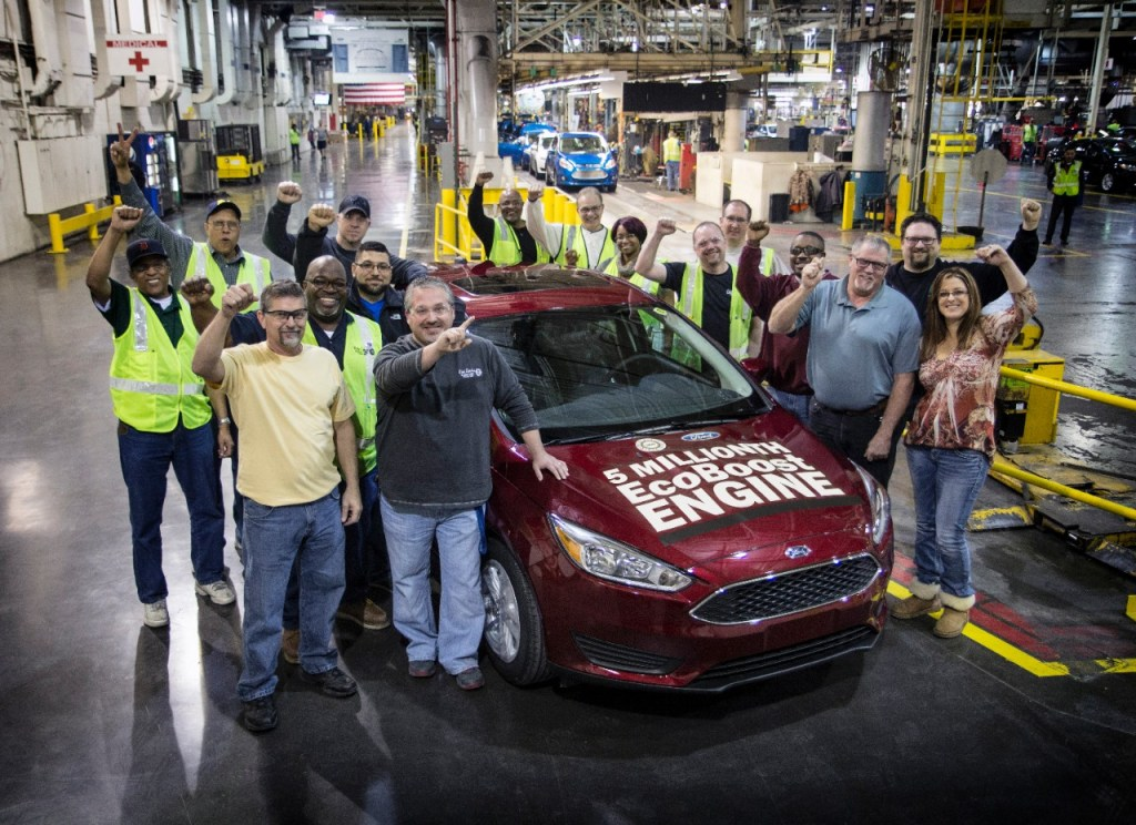 FORD MARKS PRODUCTION MILESTONE AS 5-MILLIONTH ECOBOOST-EQUIPPED VEHICLE ROLLS OFF ASSEMBLY LINE