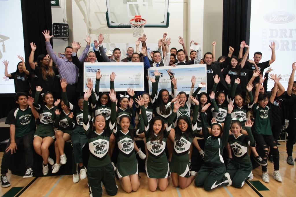 Ford Driving Dreams Tour Delivers Scholarships and Motivational Activities to 5,000 Northern California Students