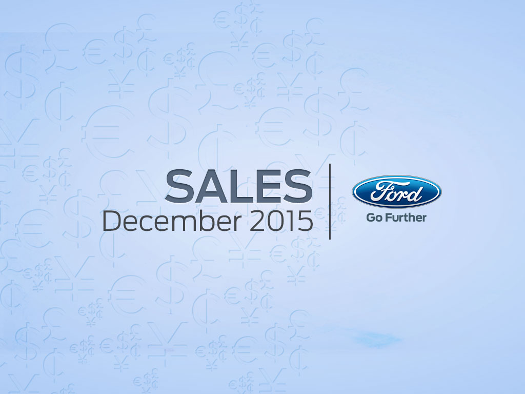 Ford is America's Best-Selling Brand for Sixth Straight Year; F-Series No. 1 Vehicle for 34th Year