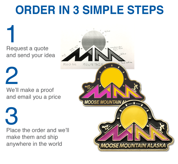 Custom Enamel Pins - Upload Your Design - QualityLapelPins com