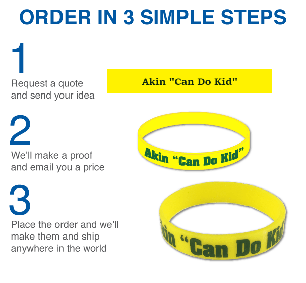Order custom wristbands