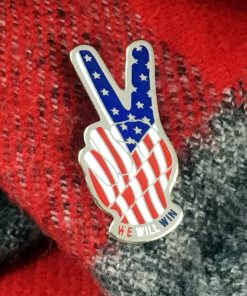 Patriotic Peace Sign Pin