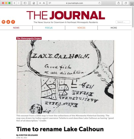 Lake Calhoun article