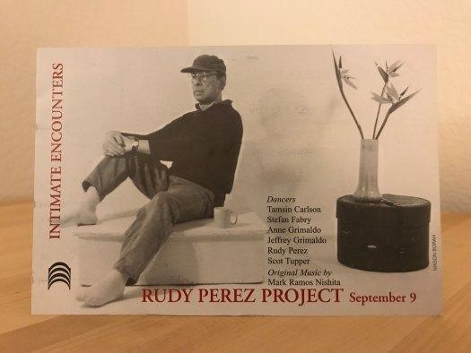 Rudy Perez Postcard 2001