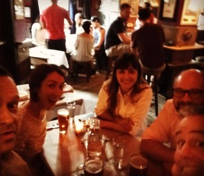 The Spotted Pig, NYC with Martin Hynie, Paul Holland, Ale Moreira, and Elizabeth Zagroba