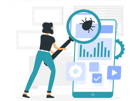 searching for bugs illustration