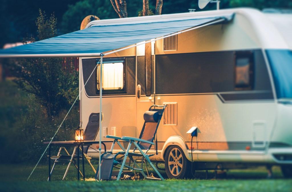 caravan outside