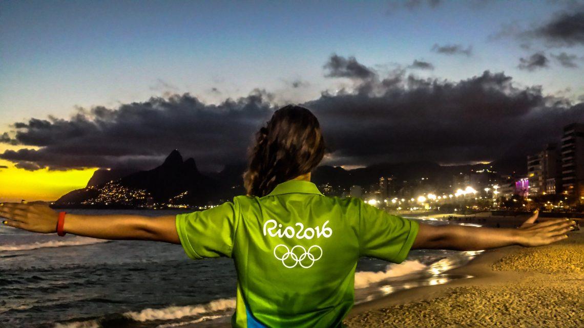 voluntária nos jogos olímpicos