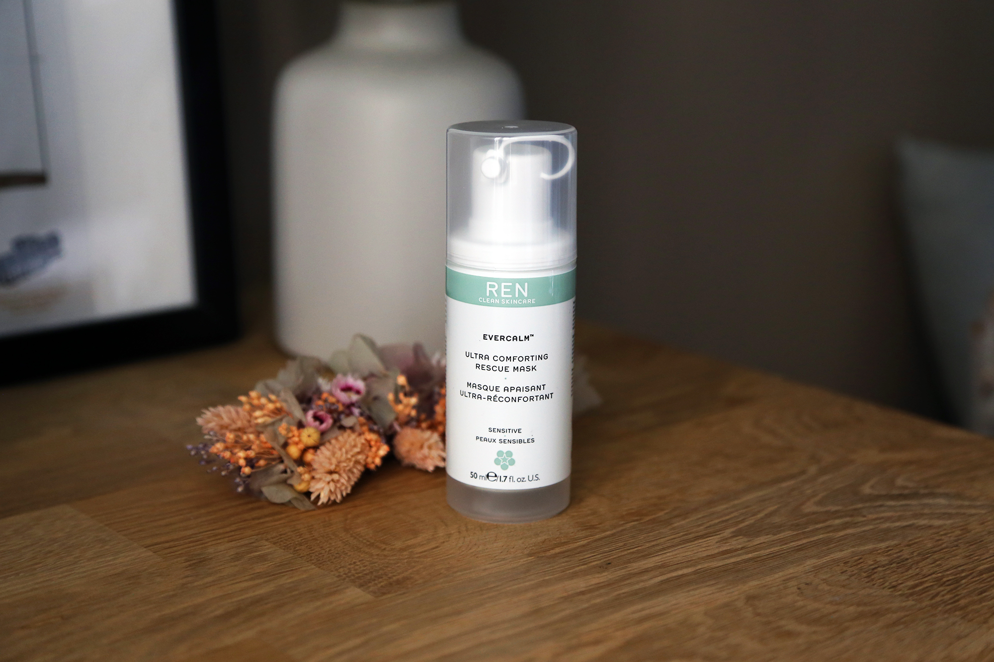 REN Skincare clean Evercalm masque apaisant réconfortant