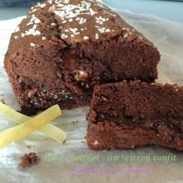 Cake chocolat lin citron confit