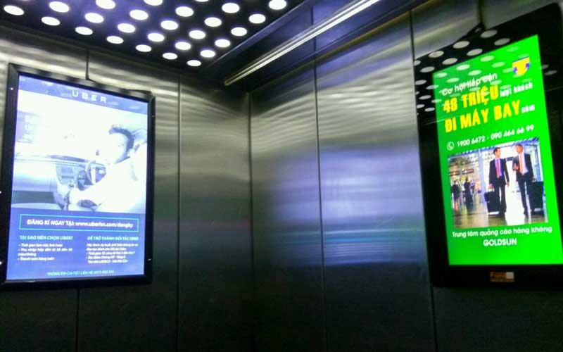 Công ty quảng cáo thang máy – quảng cáo Poster Frame trong thang may uy tín hiệu quả