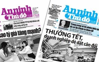 Bảng giá quảng cáo trên báo An Ninh Thủ Đô