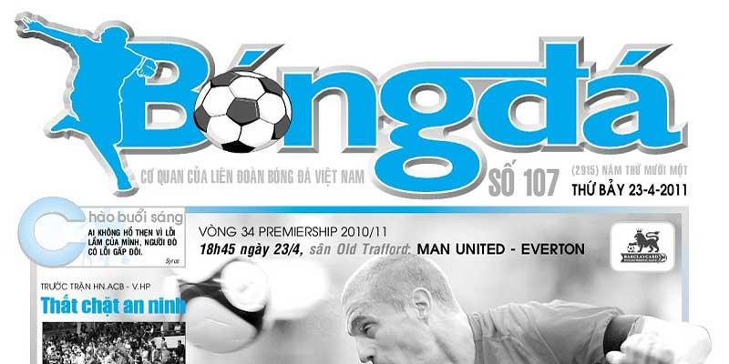 Bảng giá quảng cáo trên báo bóng đá – kênh quảng cao báo giấy, tạp chí