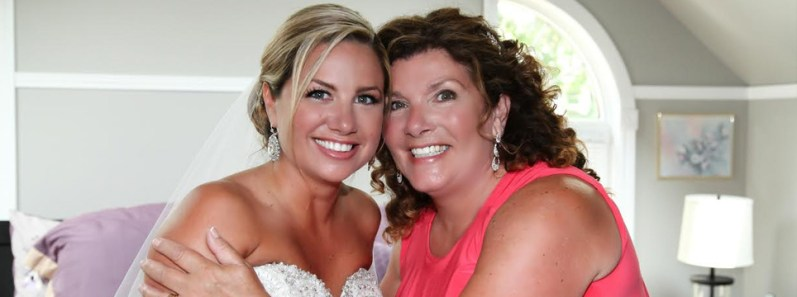 Beautiful bride and mother