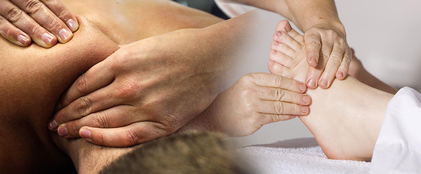 Raindrop Massage to shoulders and Vita Flex massage to foot