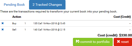 Tracked Changes to the Pending Book