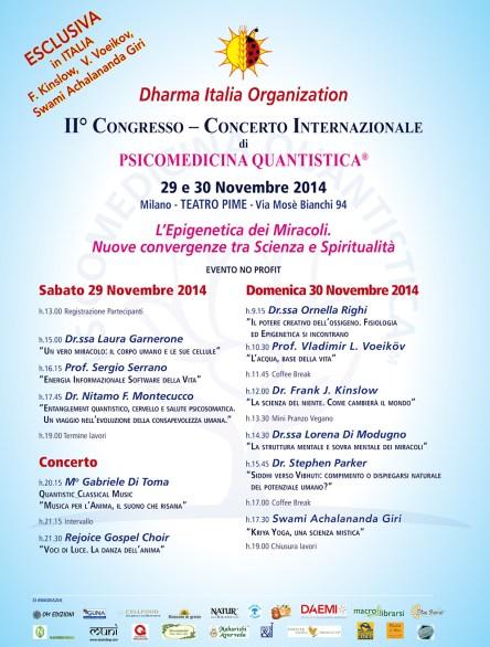 Programma Congresso di Psicomedicina Quantistica