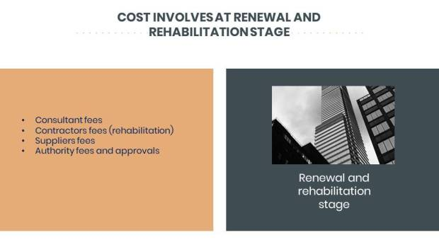 Renewal and rehabilitation stage