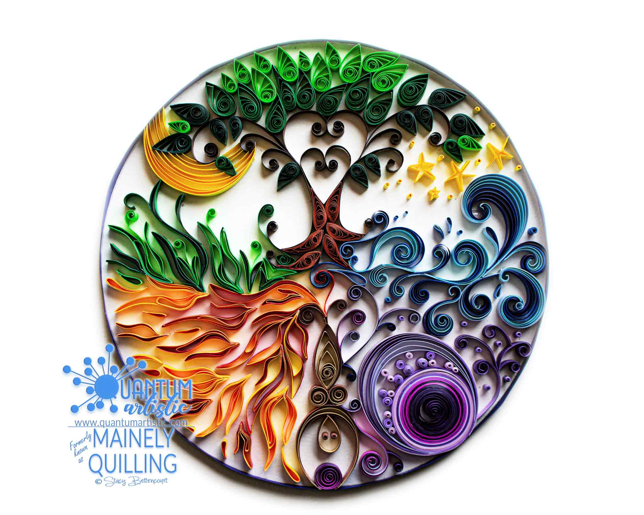 Quilled Goddess Mandala