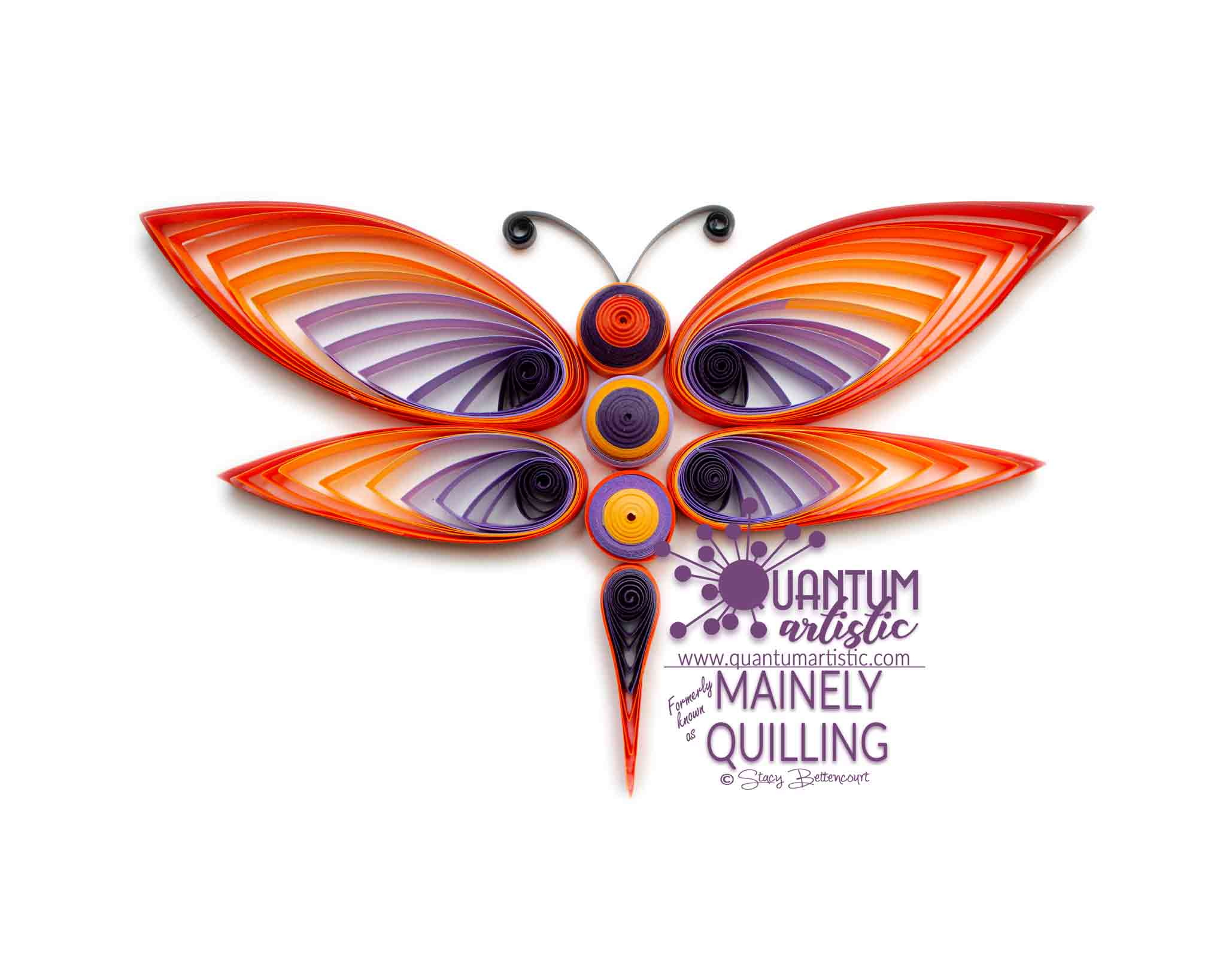 Paper Quilled Ombre Dragonfly