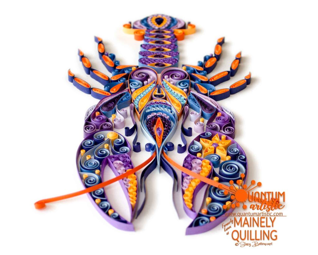 Paper Quilled Zentangle Lobster