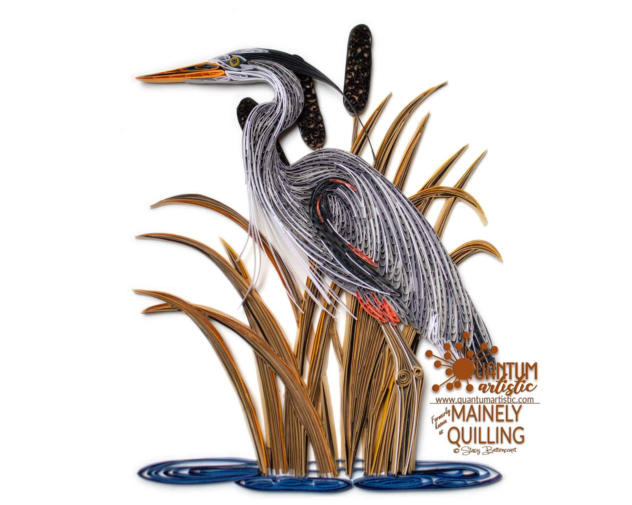 Quilled Great Blue Heron