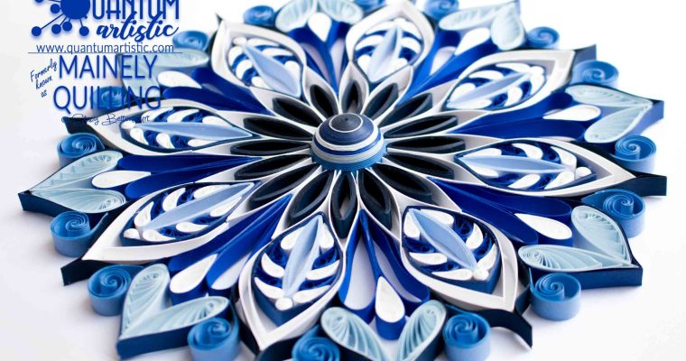 Paper Quilled Blue Mandala