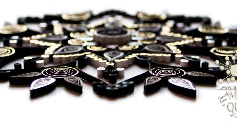 Gilded Quilled Black Mandala