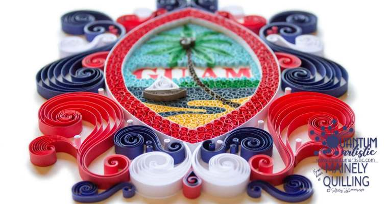 Paper Quilled Flag of Guam