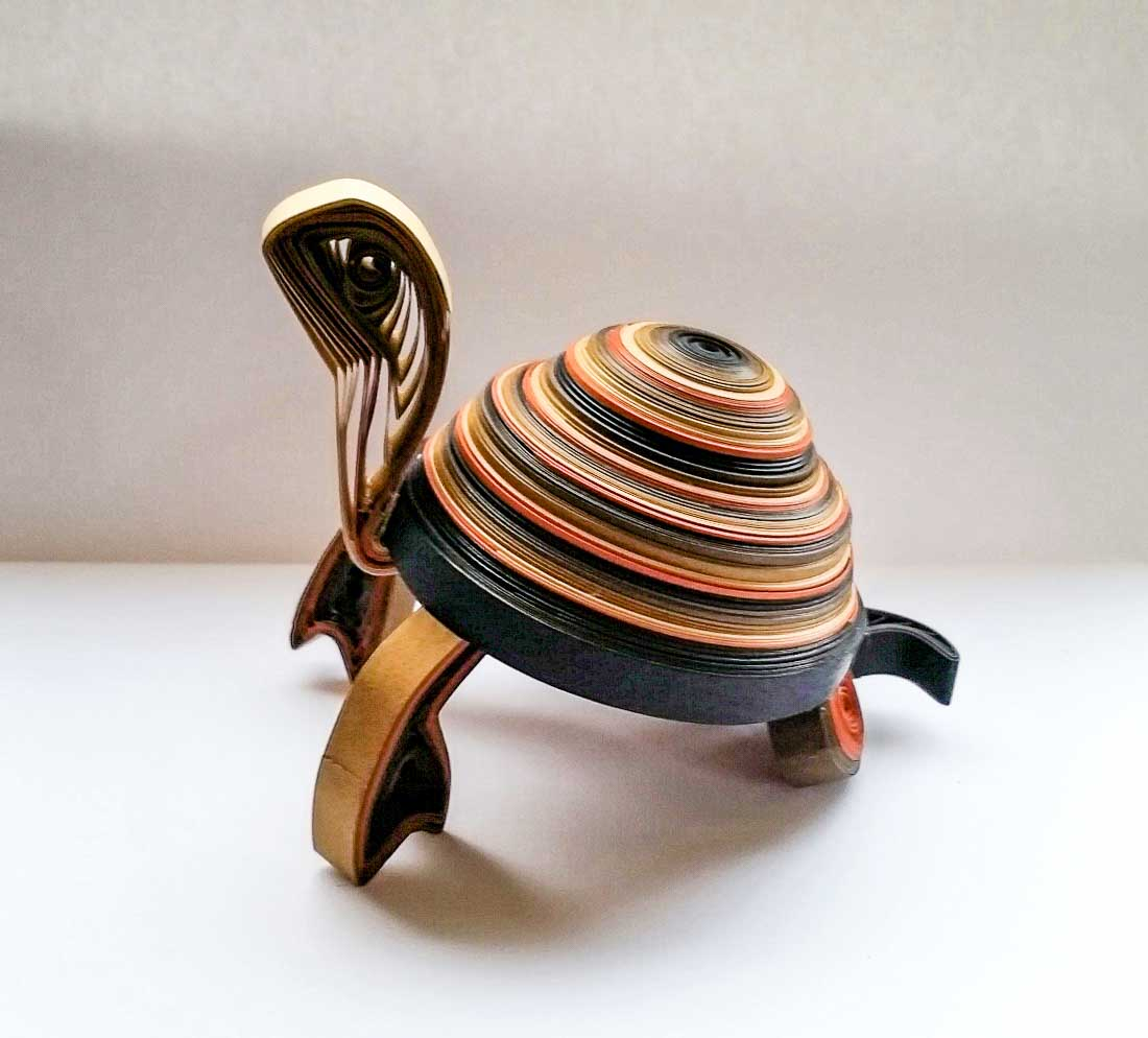 Paper Quilled 3D Tortoise