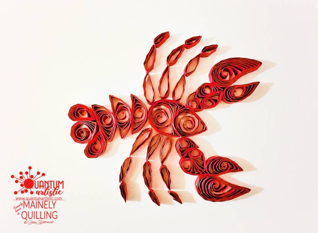 Paper Quilled Red Lobster