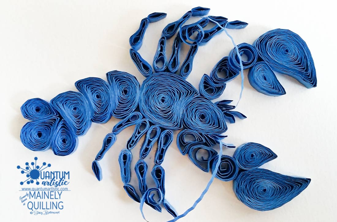 Paper Quilled Blue Lobster