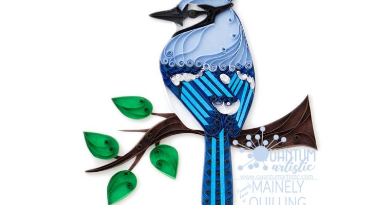 Paper Quilled Blue Jay