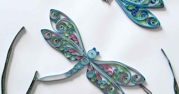 Paper Quilled Dancing Dragonflies