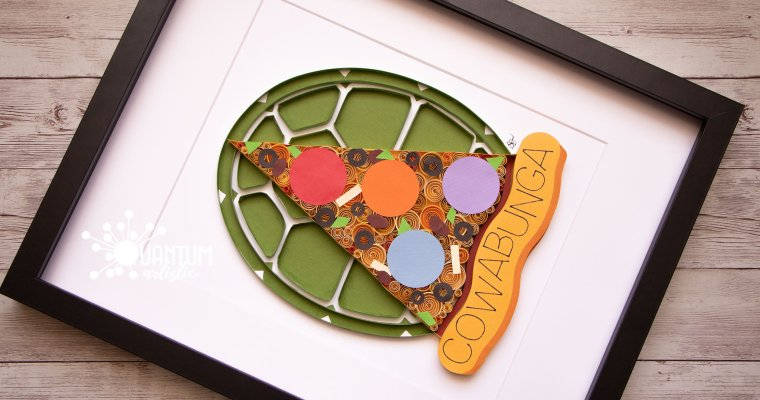 Quilled TMNT Tribute Collage