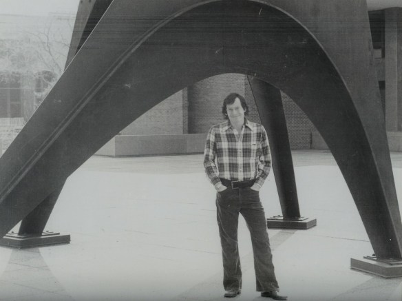 In front of Princeton's Jadwin Hall during senior year.