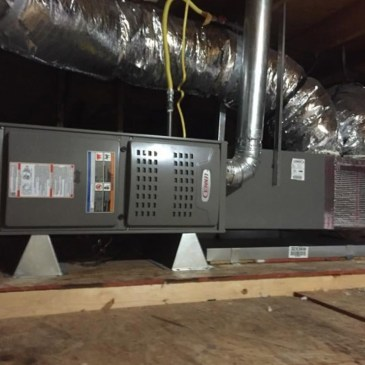 Central heating system installation