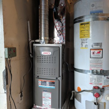 Heater system installation - Upflow setup in a garage