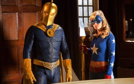 Doctor Fate (Brent Stait) and Stargirl (Britt Irvin) Smallville Justice League episode