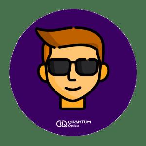 Quantum - persona con lentes