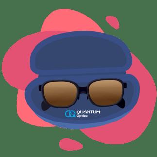 Quantum - 4 consejos para cuidar tus lentes de sol - estuche con lentres de sol