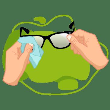 Quantum - ¿Cómo limpiar tus Lentes? - lentes con fondo verde